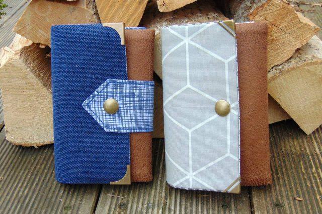 Little Ruby Hansedelli maritim geometrisches Muster blau grau kleine Geldbörse Schnittmuster Portemonnaie nähen
