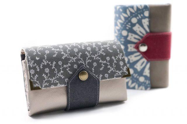 Little Ruby Hansedelli grau metallic bla Mandala kleine Geldbörse Schnittmuster Portemonnaie nähen