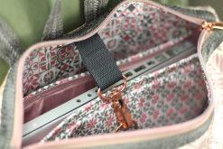 VARO Rucksack rosa metallic kupfer grau Laptopfach