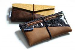 Freebook Smartphonetasche KUORI Hansedelli japanisches Wachstuch Handytasche kostenloses Schnittmuster Täschchen nähen
