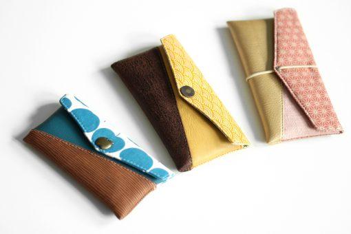 Freebook Smartphonetasche KUORI Hansedelli Größenvergleich Handytasche kostenloses Schnittmuster Täschchen nähen