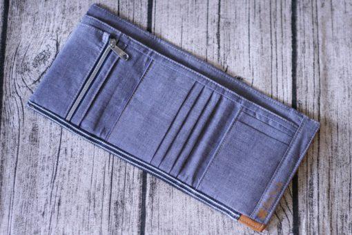 Mr Ryks Hansedelli Jeans Innenansicht Männergeldbörse nähen Portemonnaie für Männer Schnittmuster Kindergeldbörse