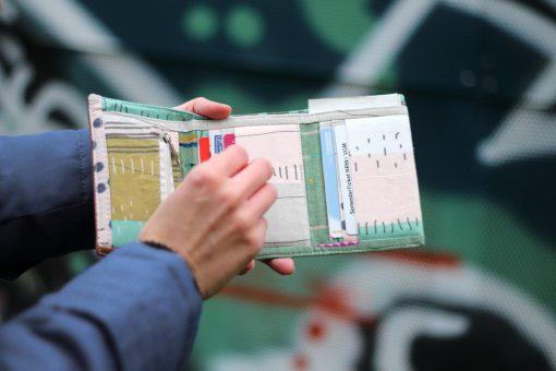 Mr Ryks Hansedelli Innenansicht Männergeldbörse nähen Portemonnaie für Männer Schnittmuster Kindergeldbörse