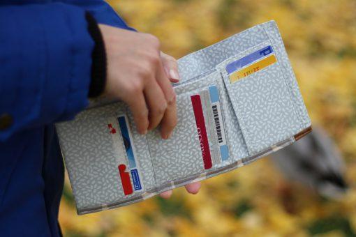 Mr Ryks Hansedelli Innenansicht grau Männergeldbörse nähen Portemonnaie für Männer Schnittmuster Kindergeldbörse