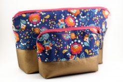 Kosmetiktasche Kulturbeutel mit Reißverschluss nähen Hansedelli Paisley Muster Blumen bunt Schnittmuster Kulturbeutel Kosmetiktasche