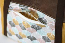 Tasche Lexa Hansedelli Außenfach nähen Wachstuch Shopper Tasche nähen Businessbag Schnittmuster