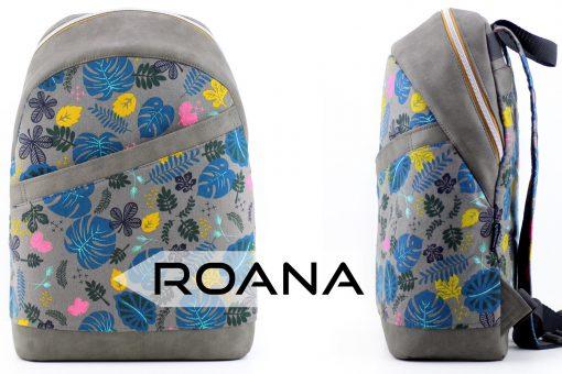 Rucksack ROANA von Hansedelli Cotton Steel Dschungel Rucksack Schnittmuster nähen