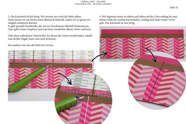 Ruby Onyx Hansedelli Blick ins Ebook Kartenfächer nähen Geldbörse Portemonnaie Schnittmuster