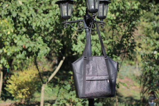 Tasche Lexa Hansedelli schwarz Glitzer elegante Businesstasche nähen Shopper Schnittmuster