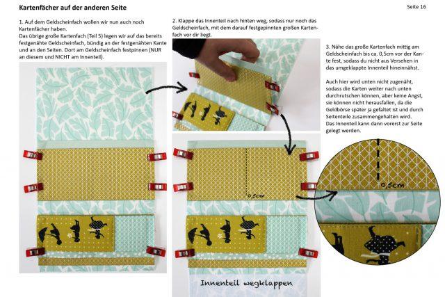 Einblick Ebook Little Ruby Hansedelli Kartenfach nähen Geldbörse Schnittmuster Portemonnaie