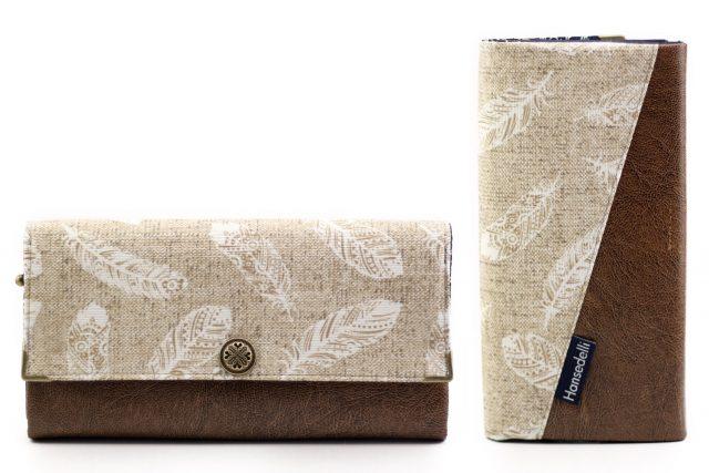 Ruby Onyx Hansedelli Federn beige Antik braun Geldbörse nähen Portemonnaie Schnittmuster