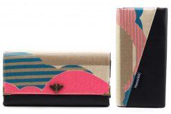 Ruby Onyx Hansedelli Wolken Neon pink Kokka Geldbörse nähen Portemonnaie Schnittmuster