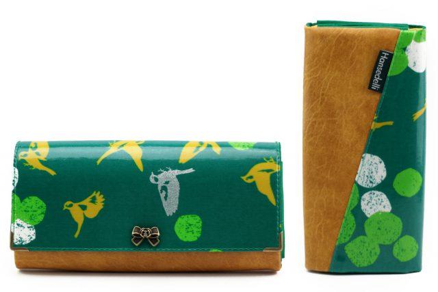 Ruby Onyx Hansedelli Vögel grün gelb silber Metalldruckknopf Schleife Geldbörse nähen Portemonnaie Schnittmuster
