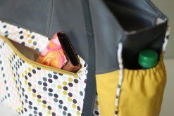 Tasche Lexa Big Hansedelli Außenfach nähen Kunstleder Reisetasche nähen Weekender Schnittmuster