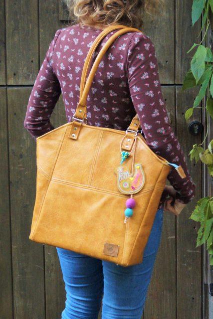 Tasche Lexa Hansedelli schlicht modern Leder Businesstasche nähen Shopper Schnittmuster
