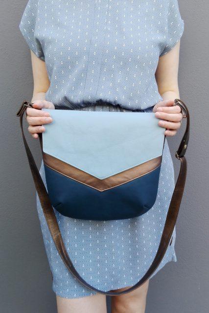 Vara blau Kupfer Tasche nähen