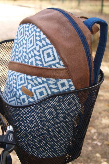 Rucksack ROANA von Hansedelli abstrakt geometrisch Inka Rucksack nähen Schnittmuster