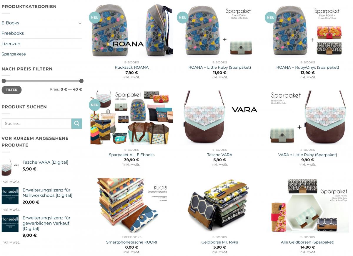 Hansedelli-Shopseite-Website