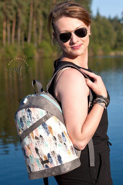 Rucksack ROANA von Hansedelli Federn Rucksack nähen Schnittmuster