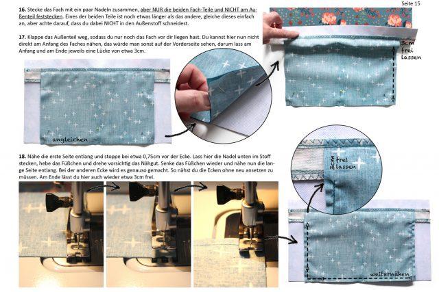 Einblick ins Ebook FoldOver 2.0 von Hansedelli Außenfach nähen