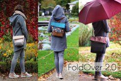 FoldOver2.0 Hansedelli Fold Over Tasche in 3 Größen mit Rucksackfunktion nähen Schnittmuster Rucksacktasche