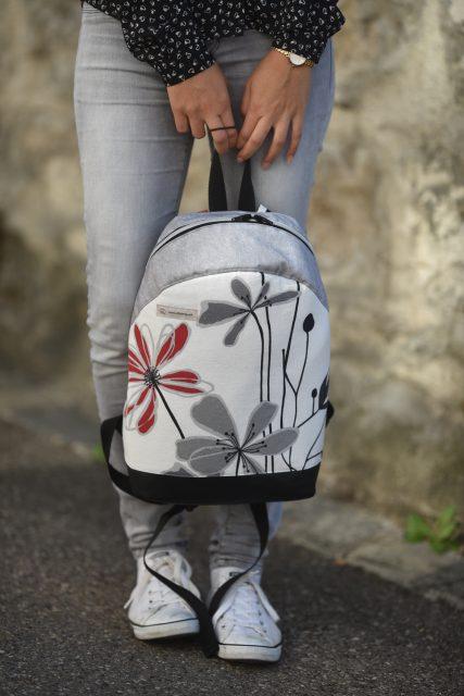 Rucksack ROANA von Hansedelli Blumen einfach Rucksack nähen Schnittmuster