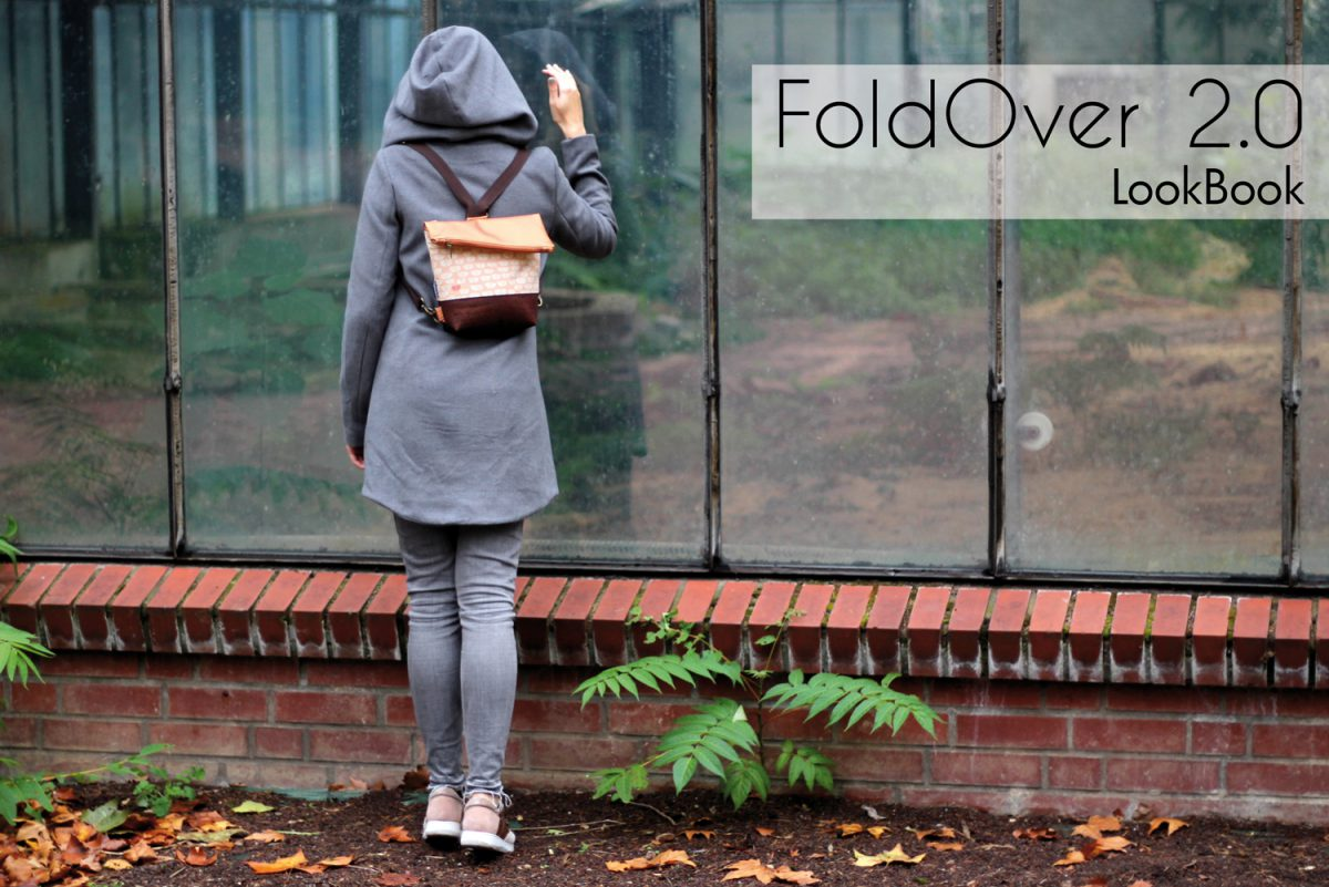 FoldOver 2.0 Hansedelli Lookbook Rucksacktasche nähen Fold Over Tasche Schnittmuster