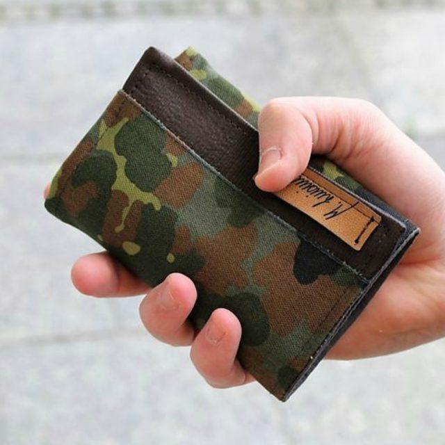 Mr Ryks Hansedelli Tarnmuster Männergeldbörse nähen Portemonnaie für Männer Schnittmuster Kindergeldbörse