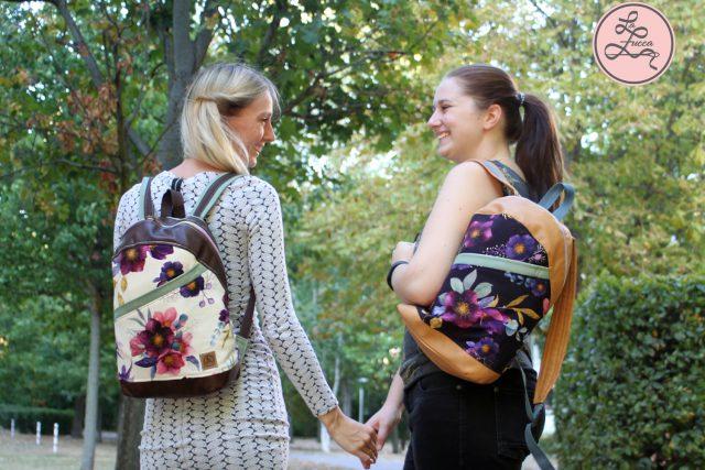 Rucksack ROANA von Hansedelli Blumen Rucksack nähen Schnittmuster
