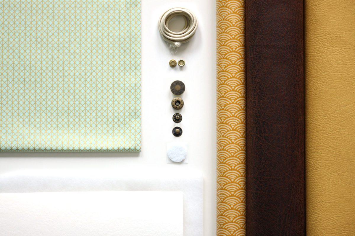Freebook Smartphonetasche KUORI Hansedelli benötigte Materialien Handytasche kostenloses Schnittmuster Täschchen nähen