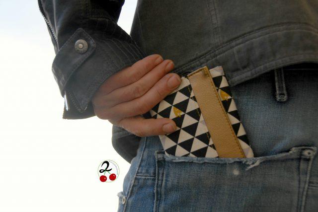 Mr Ryks Hansedelli Dreiecke schwarz weiß gold Männergeldbörse nähen Portemonnaie für Männer Schnittmuster Kindergeldbörse