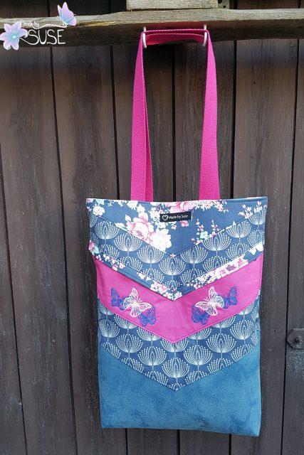 Varo Shopper floral pink blau Schnittmuster