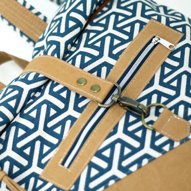 Snappap Plus Rolltop Rucksack Canvas geometrisch selbermachen naehen