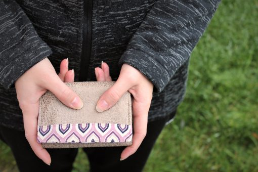 Mr Ryks Hansedelli beige rosa Männergeldbörse nähen Portemonnaie für Männer Schnittmuster Kindergeldbörse