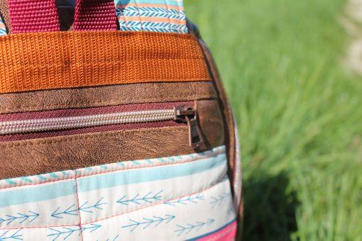 Rucksack ROANA von Hansedelli Rückenfach Ethnomuster