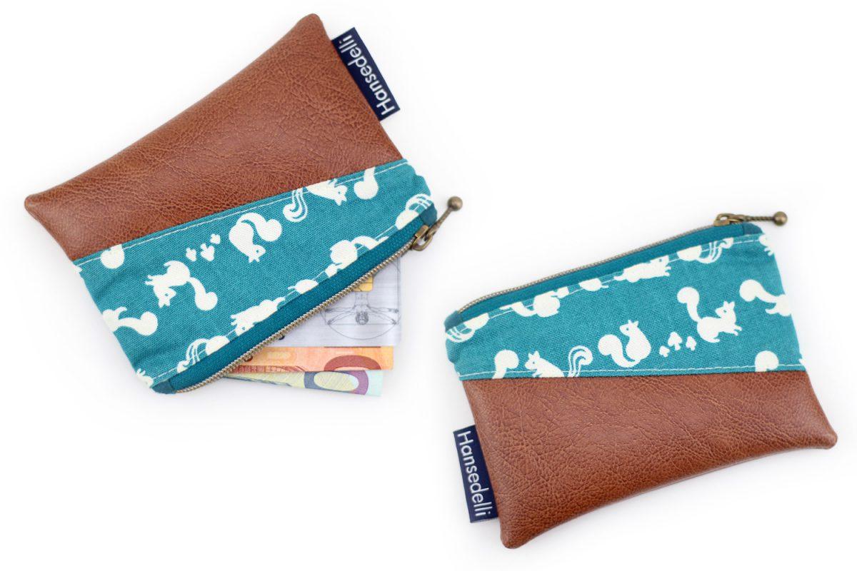 Mini-Geldbeutel nähen Hansedelli Freebook Geldbörse