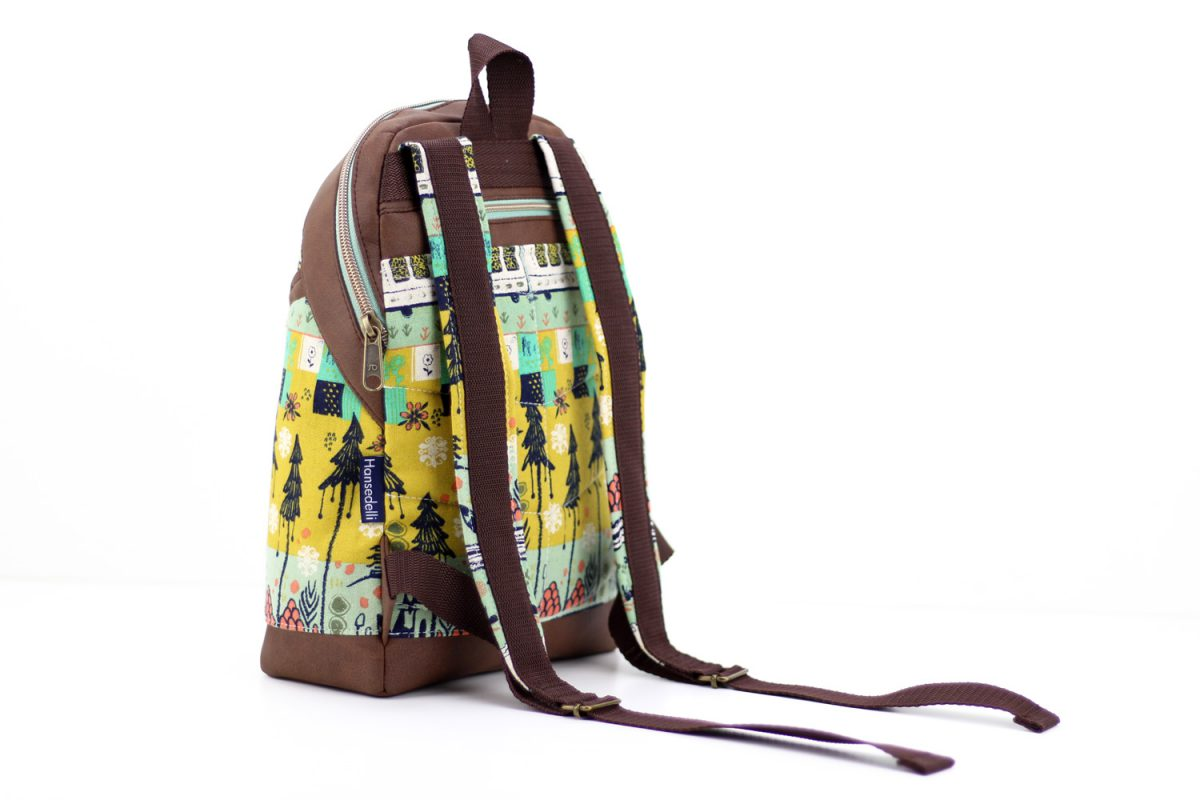 Tokyo Train Ride Canvas Cotton Steel Rucksack ROANI Kinderrucksack nähen Hansedelli