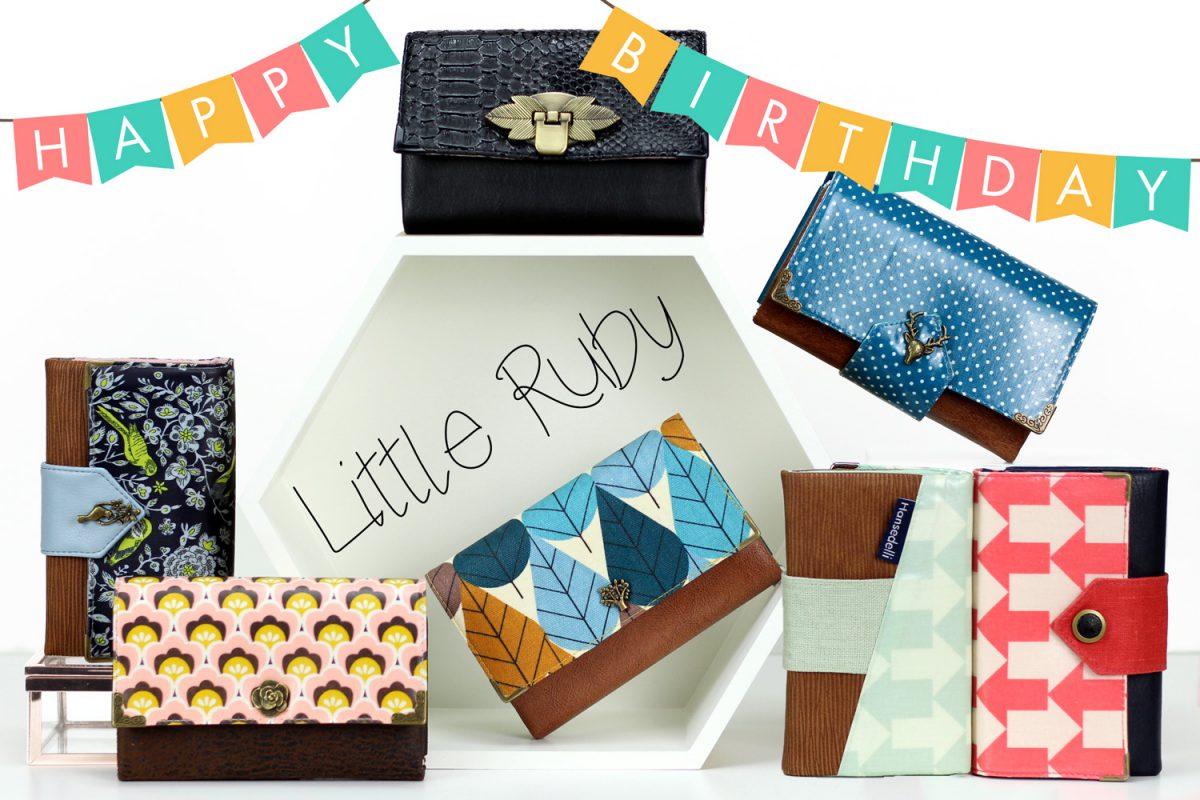 Happy Birthday Little Ruby Portemonnaie Schnittmuster Geldbörse nähen