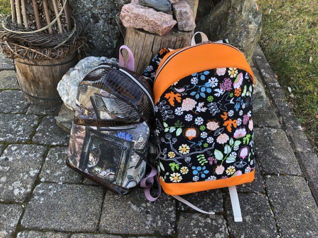 ROANA und ROANO Hansedelli nähen für Männer Schnittmuster Rucksack orange schwarz Ikea Stoff