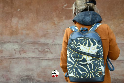 ROANO Hansedelli nähen für Männer Schnittmuster Rucksack Blätter schwarz gelb