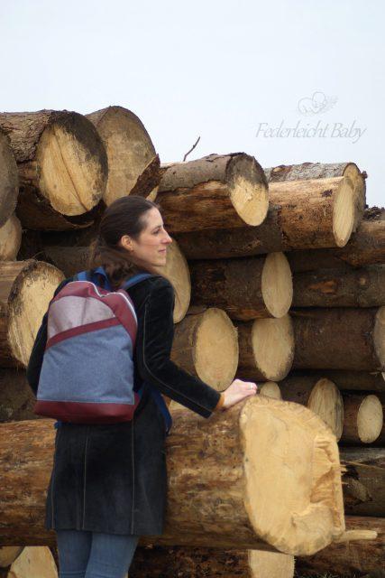 ROANO Hansedelli nähen für Männer Schnittmuster Rucksack blau braun Taschenstoff