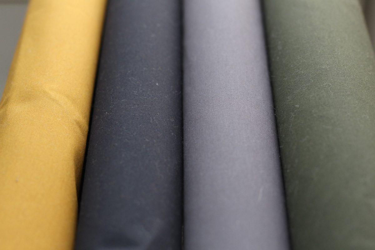 Dry Oilskin gelb blau grau grün