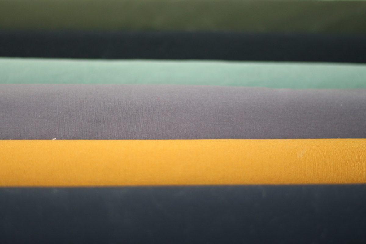 Dry Oilskin verschiedene Farben gelb mint blau grün grau