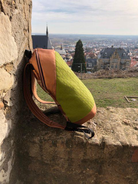 ROANO Hansedelli Rucksack nähen für Männer Schnittmuster Rucksack kupfer grün