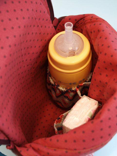 ROANI Innenansicht Hansedelli Kinderrucksack nähen Rucksack für Kinder Schnittmuster Cityrucksack