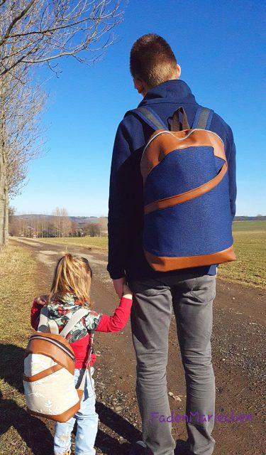 ROANI und ROANO Hansedelli Rucksack nähen für Männer Schnittmuster backpack pattern Kinderrucksack