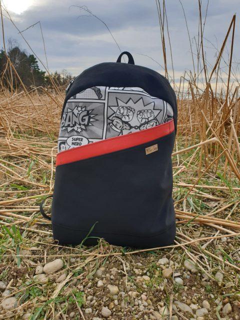 ROANO Hansedelli Rucksack nähen für Männer Schnittmuster backpack pattern Comic