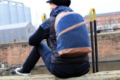 ROANO Hansedelli nähen für Männer Schnittmuster Rucksack blau Oilskin blau