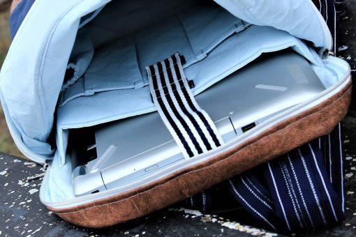 Innenansicht ROANO Hansedelli Rucksack nähen für Männer Schnittmuster Laptopfach