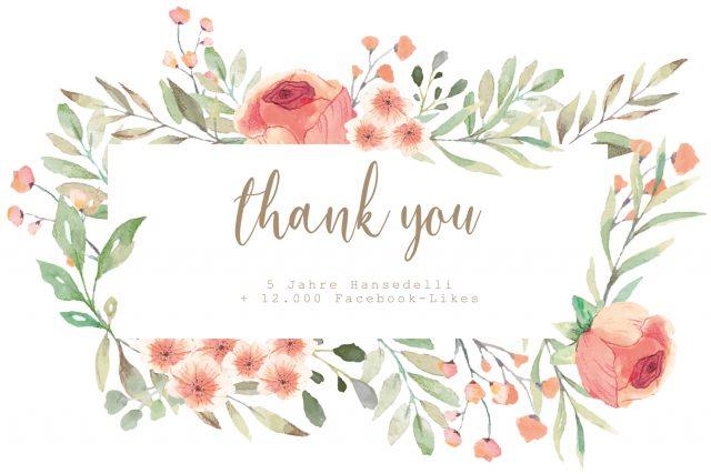 Thank you Hansedelli Geburtstag 5 Jahre